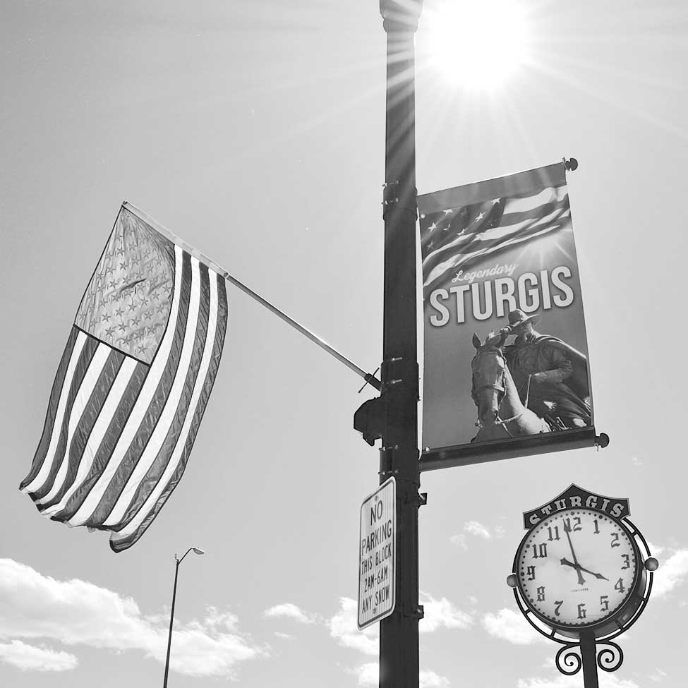Downtown Sturgis Flags