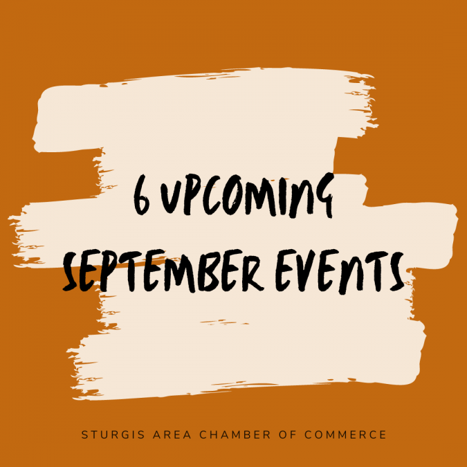 6 Upcoming September Events