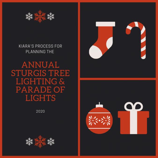 Planning the Annual Tree Lighting & Parade of Lights; Kiara's Process