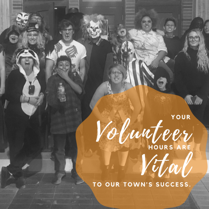 Your volunteer hours are vital to our town's success.