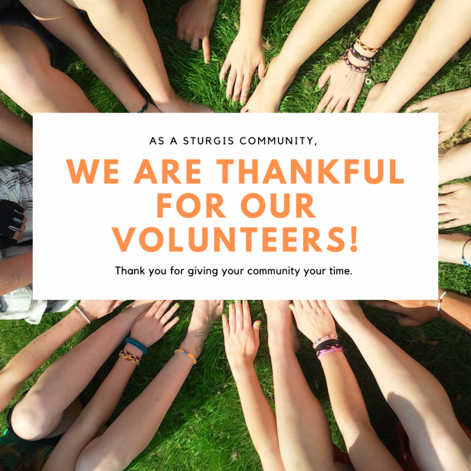 Thankful for the Volunteers in Sturgis!